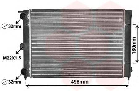 VAN WEZEL 58002039 Радиатор охлаждения двигателя