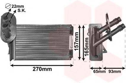 VAN WEZEL 58006173 Радиатор печки