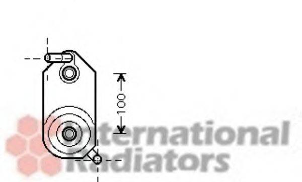VAN WEZEL 58003110 Масляный радиатор