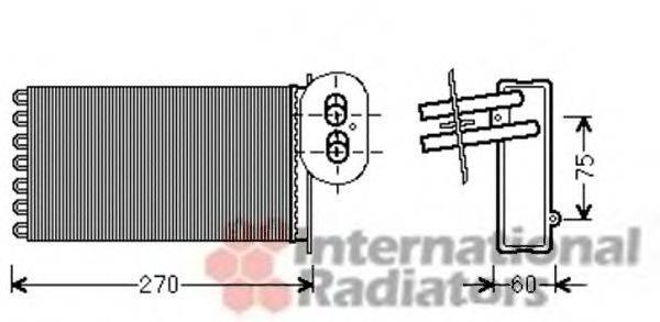 VAN WEZEL 58006296 Радиатор печки