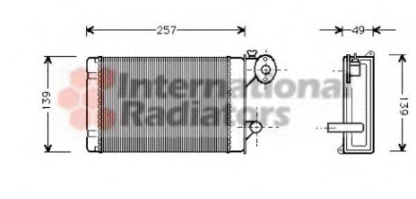 VAN WEZEL 58006062 Радиатор печки