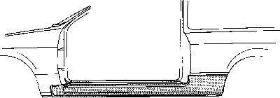 VAN WEZEL 5820101 Накладка порога