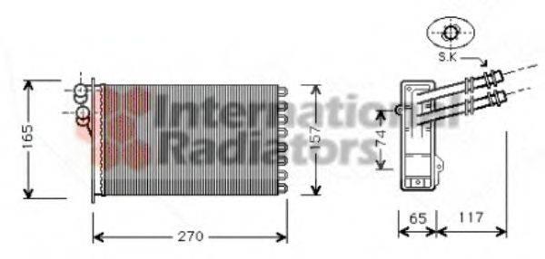 VAN WEZEL 58006175 Радиатор печки