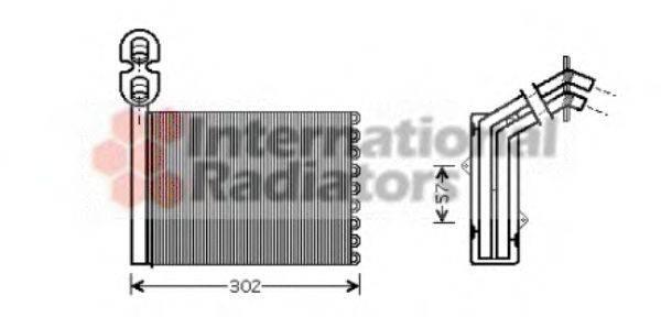 VAN WEZEL 58006201 Радиатор печки