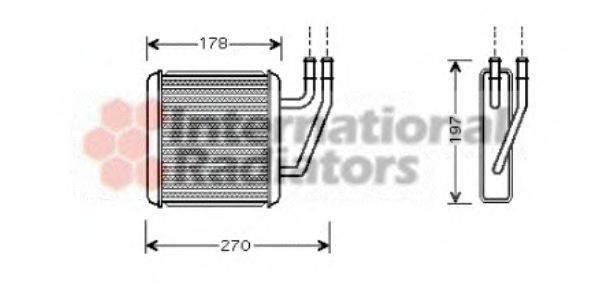 VAN WEZEL 58006203 Радиатор печки