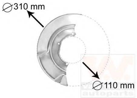 VAN WEZEL 5874372 Отражатель, диск тормозного механизма