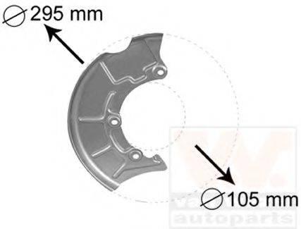 VAN WEZEL 5888372 Отражатель, диск тормозного механизма