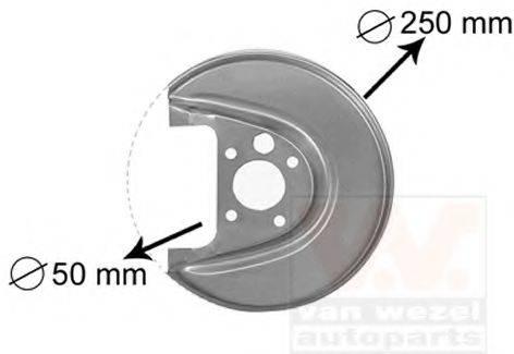VAN WEZEL 5888374 Отражатель, диск тормозного механизма