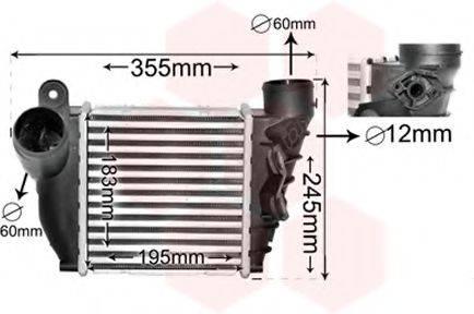 VAN WEZEL 58004200 Интеркулер