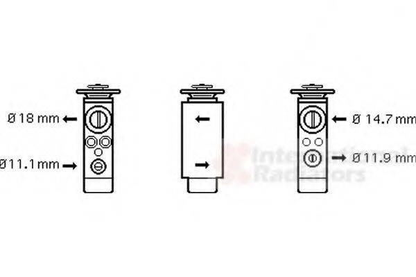 VAN WEZEL 18001380 Расширительный клапан кондиционера