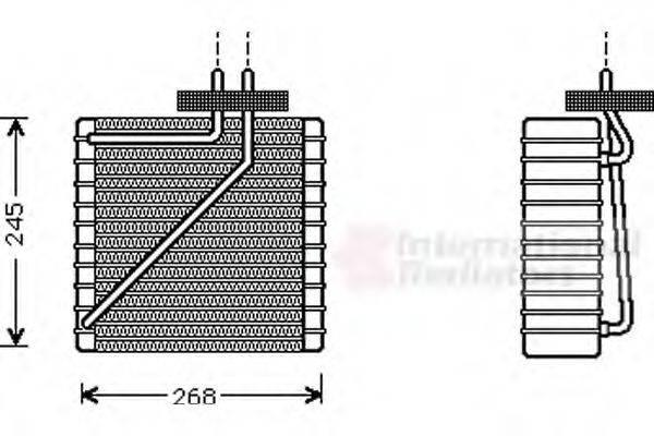VAN WEZEL 1800V271 Испаритель кондиционера