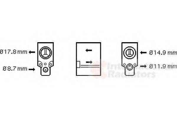 VAN WEZEL 58001076 Расширительный клапан кондиционера