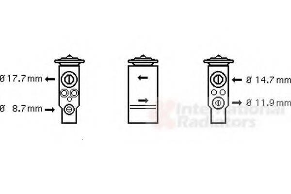 VAN WEZEL 58001113 Расширительный клапан кондиционера