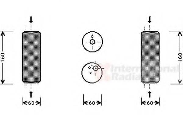 VAN WEZEL 5800D014 Осушитель кондиционера