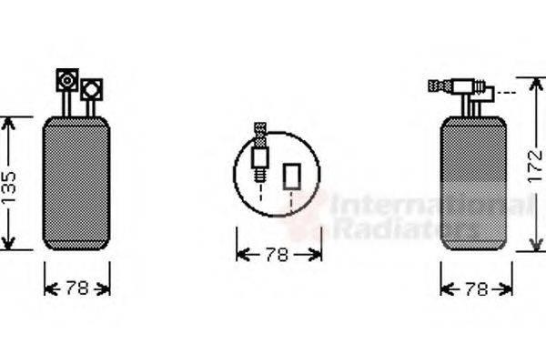 VAN WEZEL 5800D052 Осушитель кондиционера
