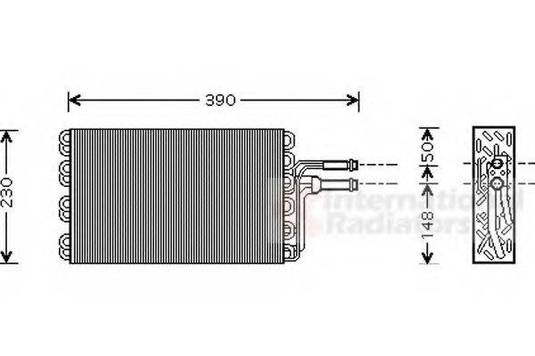 VAN WEZEL 5800V185 Испаритель кондиционера