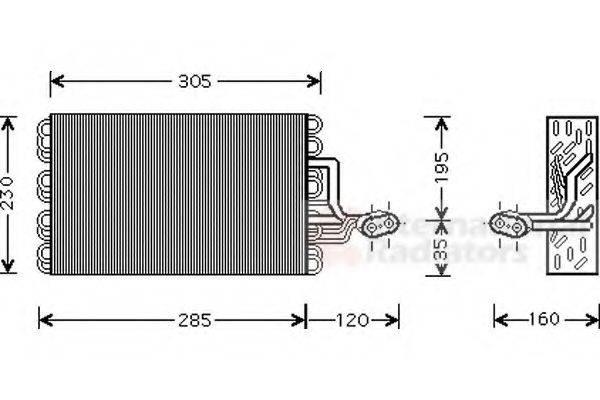 VAN WEZEL 5800V186 Испаритель кондиционера
