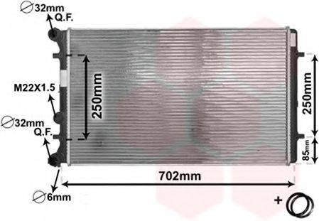 VAN WEZEL 03002129 Радиатор охлаждения двигателя