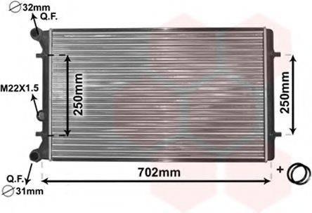 VAN WEZEL 03002155 Радиатор охлаждения двигателя