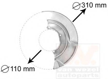 VAN WEZEL 5874371 Отражатель, диск тормозного механизма