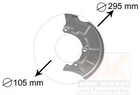 VAN WEZEL 5888371 Отражатель, диск тормозного механизма