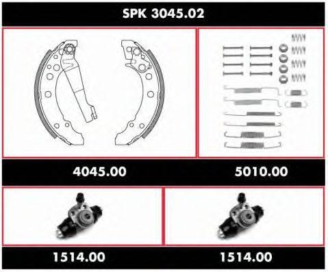 WOKING SPK304502 Комплект тормозов, барабанный тормозной механизм