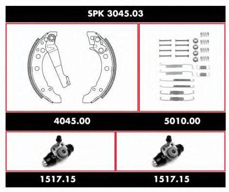 WOKING SPK304503 Комплект тормозов, барабанный тормозной механизм