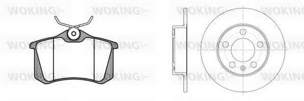 WOKING 8363301 Комплект тормозов, дисковый тормозной механизм