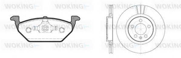 WOKING 8733300 Комплект тормозов, дисковый тормозной механизм