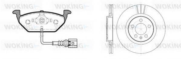 WOKING 8733301 Комплект тормозов, дисковый тормозной механизм