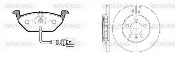 WOKING 8733309 Комплект тормозов, дисковый тормозной механизм