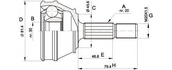 OPEN PARTS CVJ503010 ШРУС с пыльником