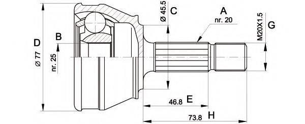 OPEN PARTS CVJ503110 ШРУС с пыльником