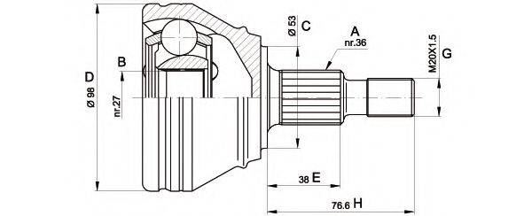OPEN PARTS CVJ544210 ШРУС с пыльником