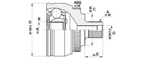 OPEN PARTS CVJ551610 ШРУС с пыльником