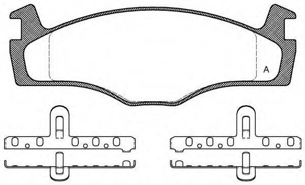 OPEN PARTS BPA017100 Тормозные колодки