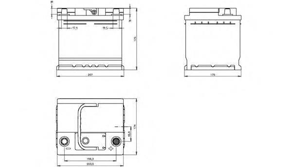OPEN PARTS BT044L1B00 Аккумулятор автомобильный (АКБ)
