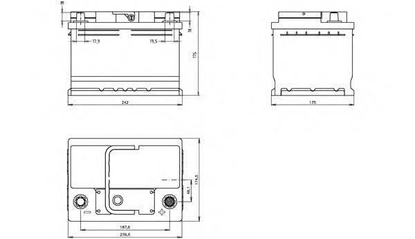 OPEN PARTS BT060L2B00 Аккумулятор автомобильный (АКБ)