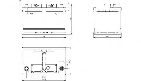 OPEN PARTS BT074L300 Аккумулятор автомобильный (АКБ)