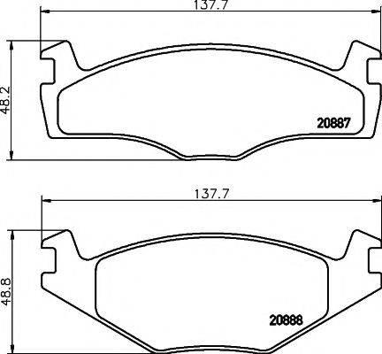 TEXTAR 89001100 Комплект тормозов, дисковый тормозной механизм