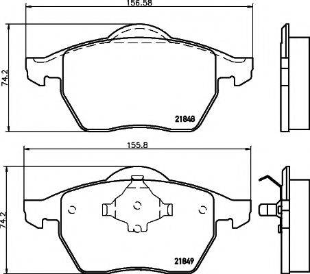 TEXTAR 89003800 Комплект тормозов, дисковый тормозной механизм