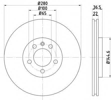 TEXTAR 92082305 Тормозной диск