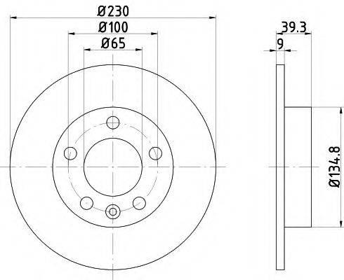 TEXTAR 92082503 Тормозной диск