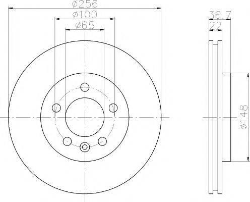 TEXTAR 92098603 Тормозной диск
