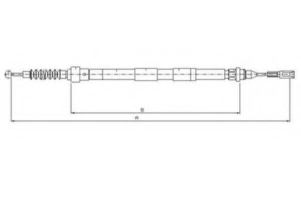 TEXTAR 44005100 Трос, стояночная тормозная система