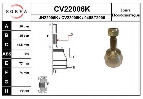EAI CV22006K ШРУС с пыльником