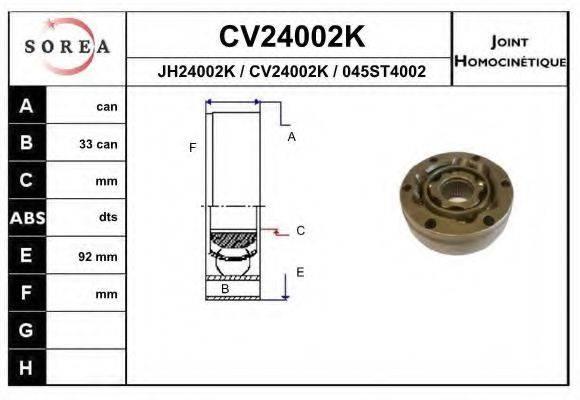 EAI CV24002K ШРУС с пыльником