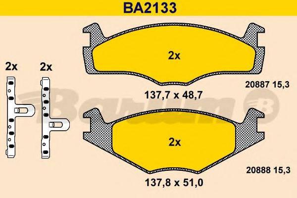 BARUM BA2133 Тормозные колодки