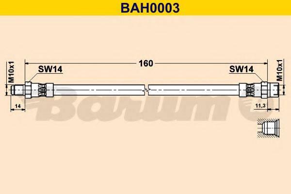 BARUM BAH0003 Тормозной шланг