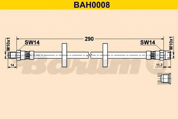 BARUM BAH0008 Тормозной шланг